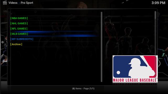 Watch Live Sports on Kodi